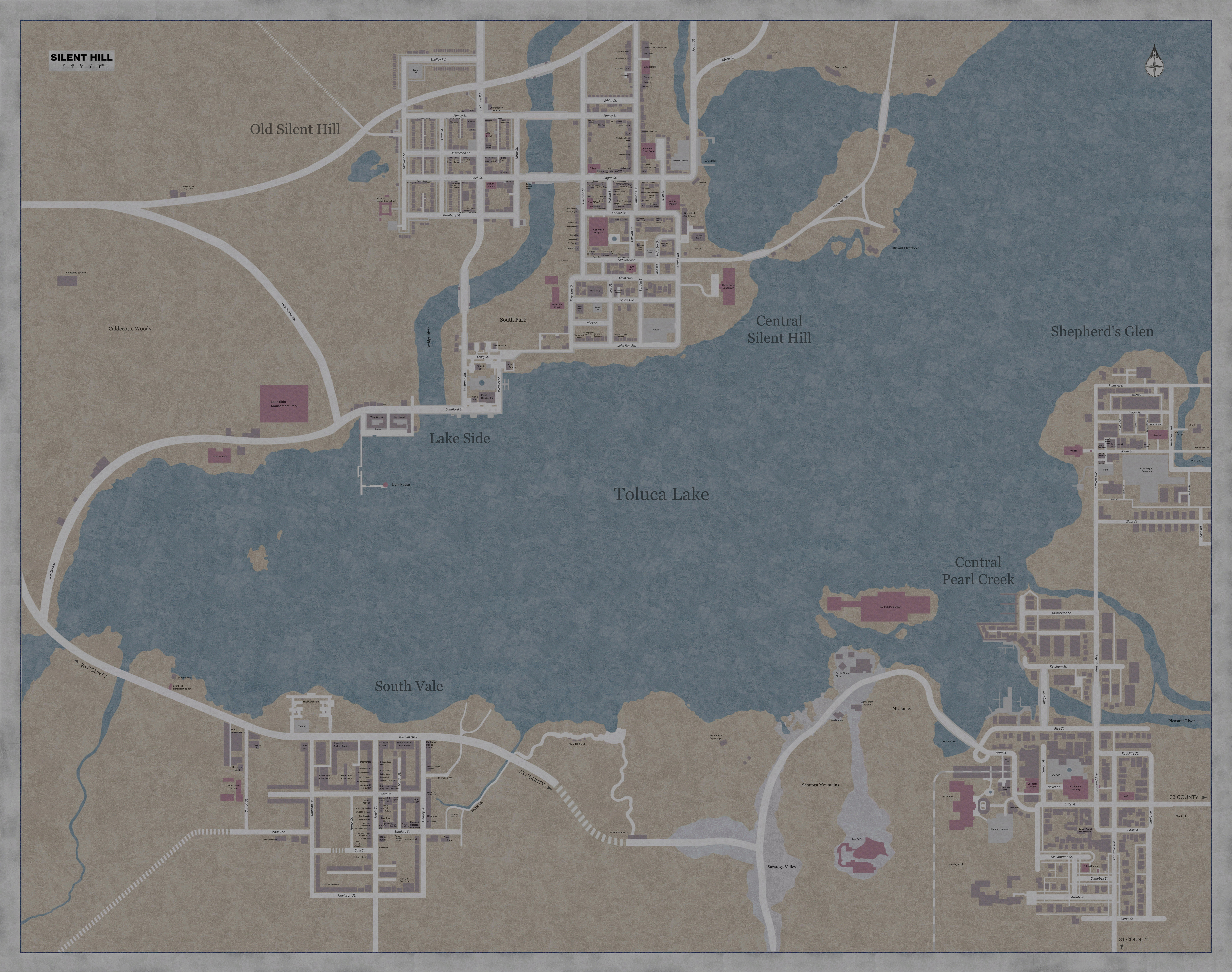 Could This Be The Full Map Of The Town Silenthill