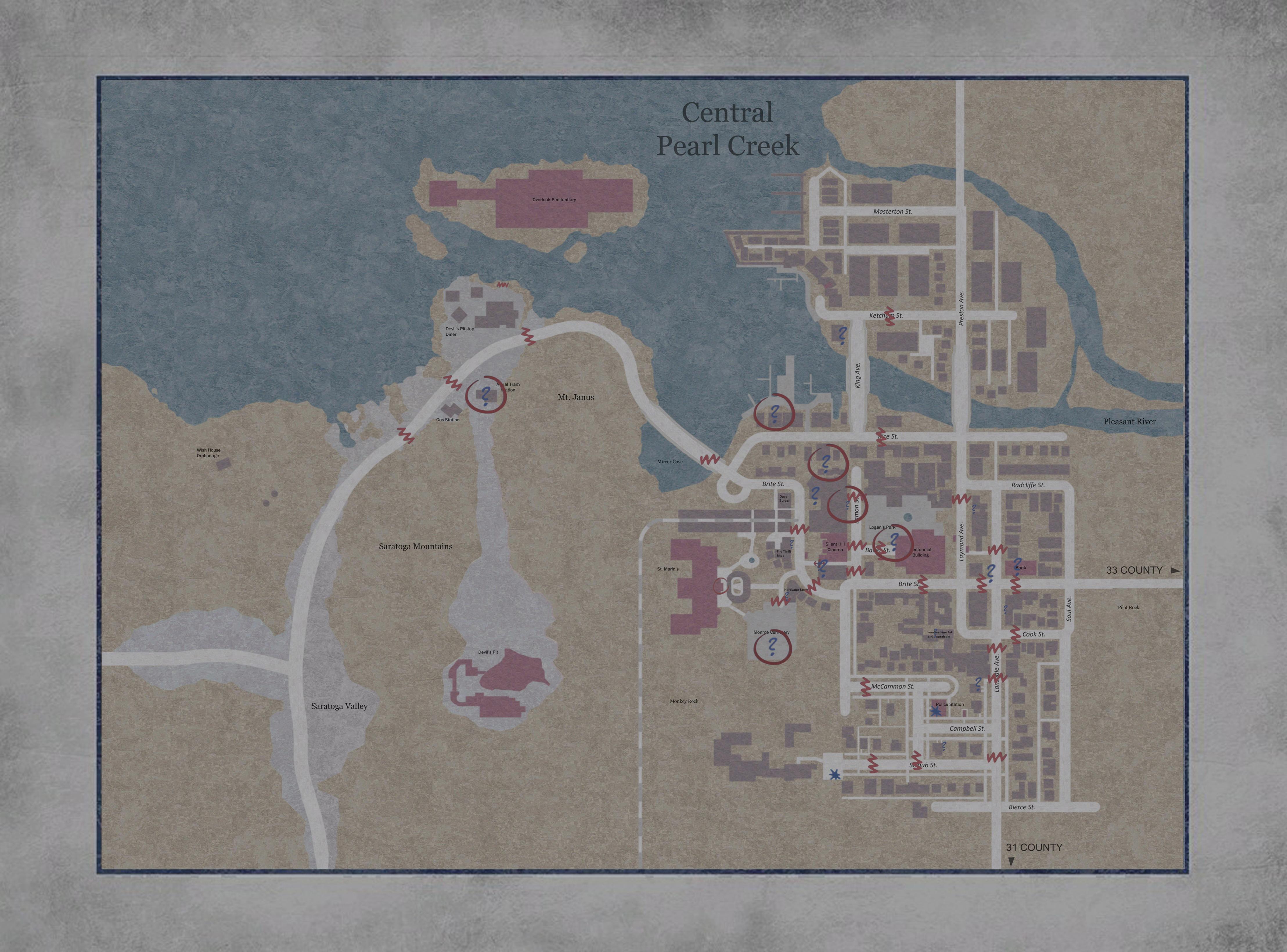 Silent Hill Maps Silent Hill Memories