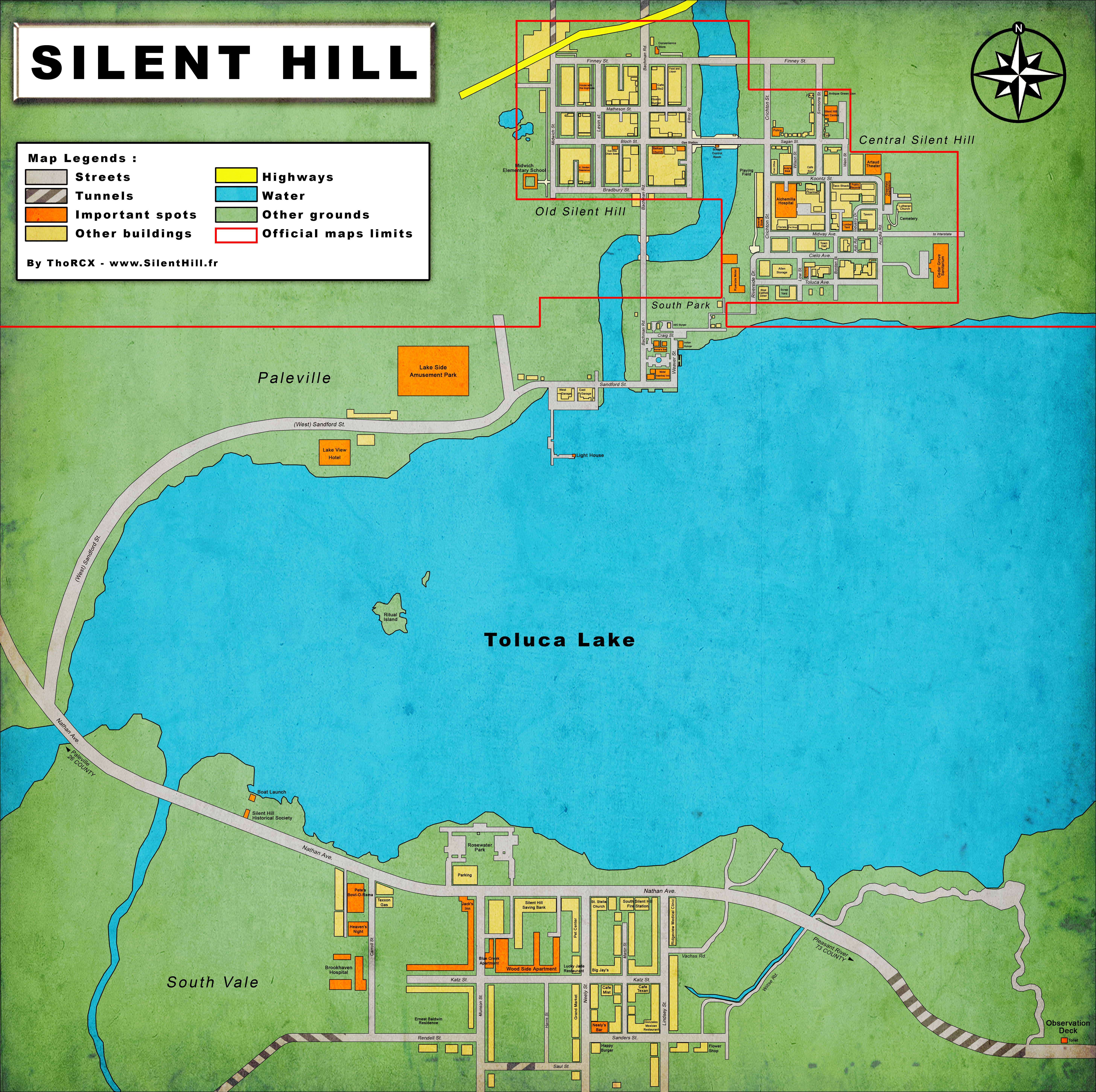 Silent Hill Maps Silent Hill Memories - Toluca map
