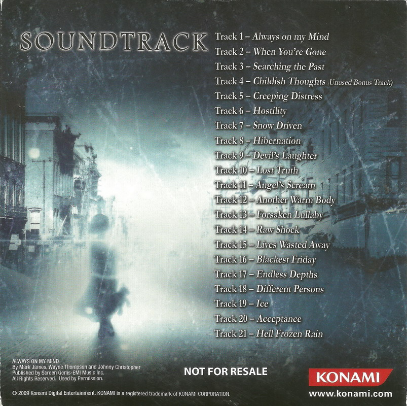 Lyric memories of a broken heart lyrics : Silent Hill: Shattered Memories Original Soundtracks (OST ...